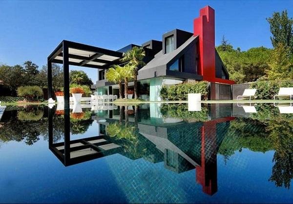 hoş bir villa cephe tasarımı