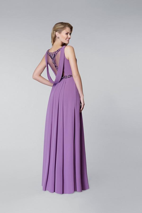 lila renk elbise
